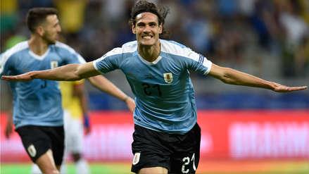 ¡Tijera y adentro! Edinson Cavani anotó el segundo gol de Uruguay frente a Ecuador