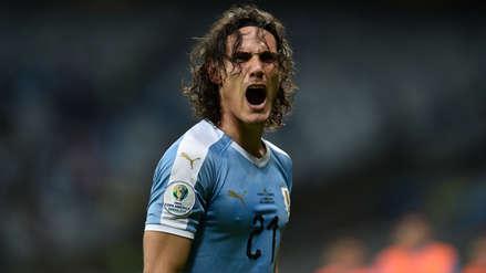 ¡De taquito! El lujo de Edison Cavani que casi termina en gol en el partido de Uruguay y Ecuador