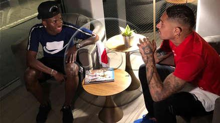 Paolo Guerrero recibió la visita de Vinicius Junior en Río de Janeiro