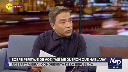 Vieira sobre audio de diligencia fiscal: Es la forma en la que los peritos me dijeron que hablara