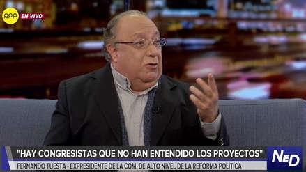 Fernando Tuesta: Es notorio que algunos congresistas no han leído los proyectos de reforma política
