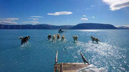La impactante foto que muestra la gravedad del deshielo en Groenlandia: