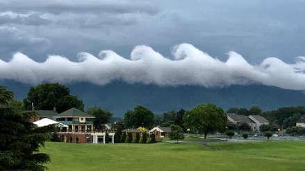 Nubes en forma de olas sorprendieron a habitantes de Virginia