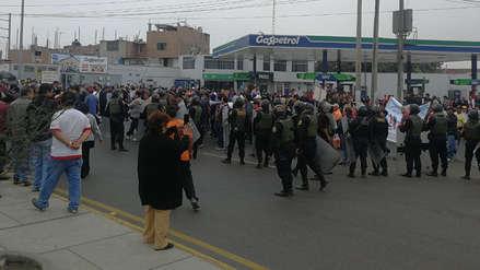 Paro CGTP   Un detenido y un herido en enfrentamiento entre trabajadores y policías en Trujillo