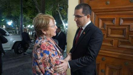 Michelle Bachelet pasó sus primeras horas en Venezuela reunida con el oficialismo