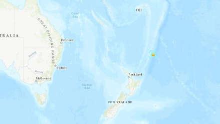 Un fuerte sismo de magnitud 6,2 sacudió las islas Kermadec de Nueva Zelanda