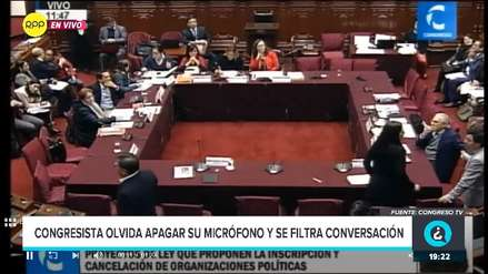 Congresista de Fuerza Popular olvida apagar su micrófono durante sesión y se filtra conversación