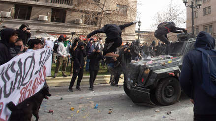 10 fotos de la protesta de maestros chilenos en demanda de mejoras al sistema educativo