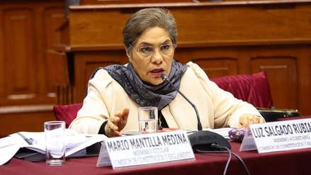 Luz Salgado anuncia su alejamiento en Fuerza Popular: