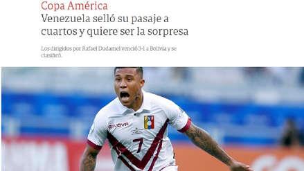 Venezuela venció a Bolivia: prensa internacional destacó clasificación venezolana en la Copa América 2019