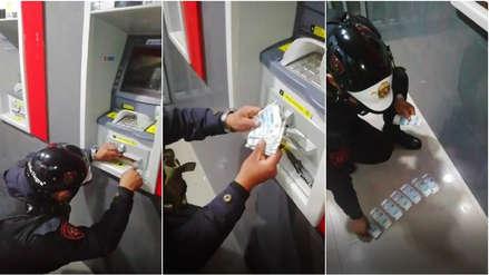 San Miguel | Policía recuperó dinero de usuario trabado en cajero por 'regleta' de delincuentes
