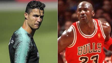Cristiano Ronaldo presumió su encuentro con Michael Jordan