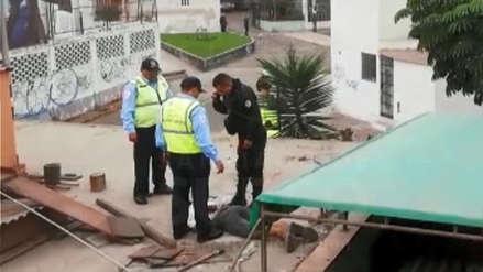 Ladrón fue capturado tras esconderse en el techo de un colegio de educación inicial