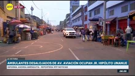La Victoria | Ambulantes desalojados de la avenida Aviación ocupan el jirón Hipólito Unanue