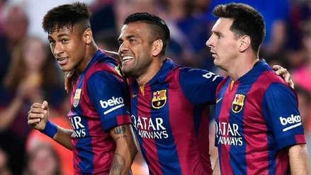 El saludo de cumpleaños de Neymar y Dani Alves a Messi que ilusiona a los hinchas