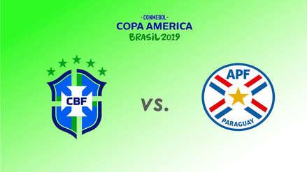 Brasil vs. Paraguay: fecha, hora, canal para ver EN DIRECTO el duelo por cuartos de final de la Copa América 2019