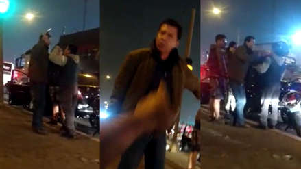 Coronel en retiro sacó y agitó su arma de fuego enun incidente de tránsito en el Callao [VIDEO]