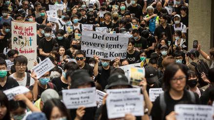 Manifestantes de Hong Kong exigen presión internacional contra China por polémica ley de extradición
