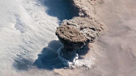 La espectacular erupción del volcán