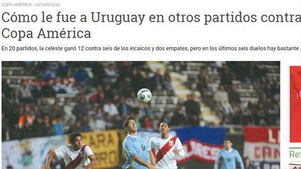 Perú vs. Uruguay: así informan los medios uruguayos en la previa del partido en la Copa América 2019