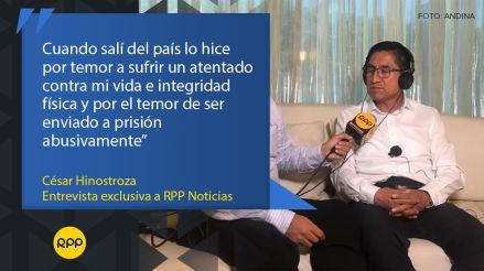 César Hinostroza: las principales frases del exjuez supremo en la entrevista a RPP Noticias