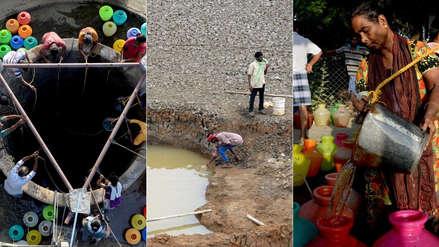 Lagos vacíos y peleas por agua: 15 fotos del día a día en la importante ciudad india que se seca