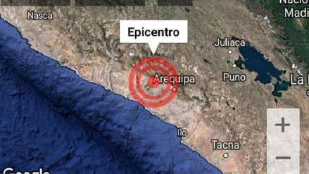 Un sismo de magnitud 3,8 se registró esta madrugada en Arequipa