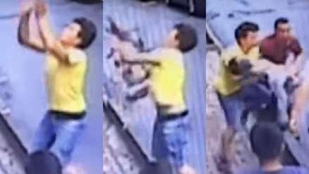 Un adolescente 'héroe' atrapó en el aire a una niña que caía de un edificio en Turquía [VIDEO]