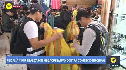 Policía Nacional incautó prendas de vestir por un valor de 10 millones de soles en Surco