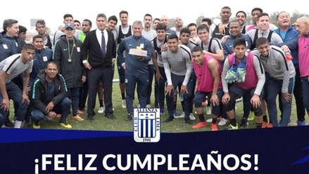 Alianza Lima y su emotivo agasajo a Pablo Bengoechea por su cumpleaños