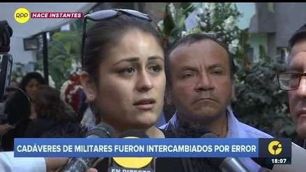 Novia de militar cuyo cadáver fue intercambiado: