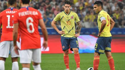 ¡Por poquito! James Rodríguez falló una gran ocasión de gol en el partido entre Colombia y Chile
