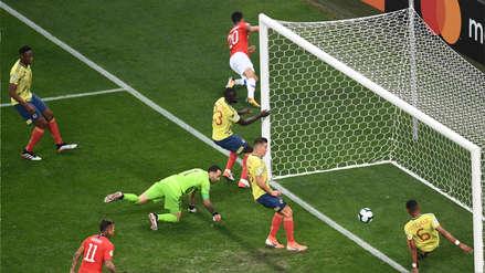 ¡Respira Colombia! El VAR anuló este gol a Chile por posición adelantada
