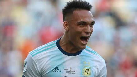 ¡Celebra Argentina! Lautaro Martínez anotó golazo de taco en cuartos de final de la Copa América 2019