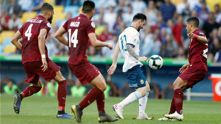 Venezuela no pudo ante Argentina y cayó 0-2 en los cuartos de final de la Copa América 2019