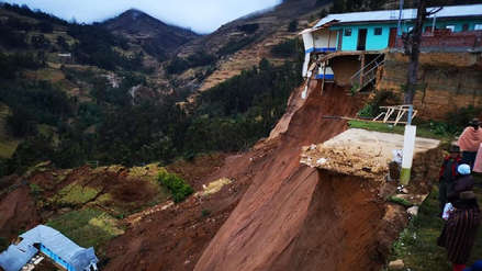 Centro de salud y viviendas colapsaron por falla geológica en distrito de Huánuco [FOTOS]