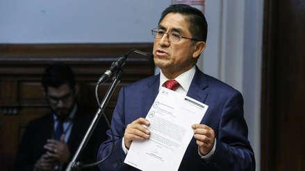 Velásquez Quesquén: Denuncia constitucional contra César Hinostroza debe declararse inadmisible