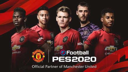eFootBall PES 2020 anuncia colaboración el Manchester United