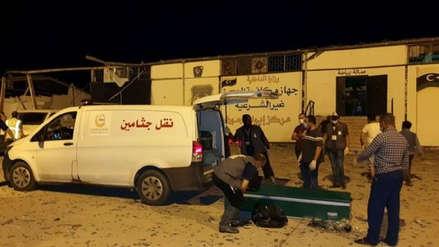 Al menos 40 muertos tras ataque a centro de migrantes en Libia