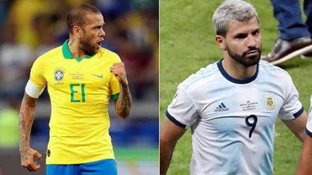 Dani Alves habló sobre el penal no cobrado a Sergio Agüero en la semifinal de Copa América 2019