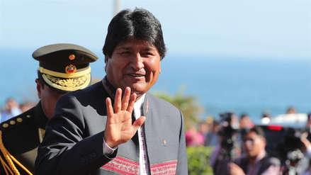 Evo Morales celebra la clasificación de Perú a la final de la Copa América