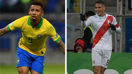 Gabriel Jesús y Paolo Guerrero, las 2 principales cartas de gol en la final de la Copa América 2019