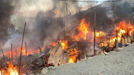 Dos heridos dejó el incendio en una fábrica de pirotécnicos en Chosica