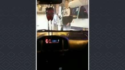 Cobrador de combi realizó actos obscenos a mujer que le reclamó por impedir el paso de otros vehículos