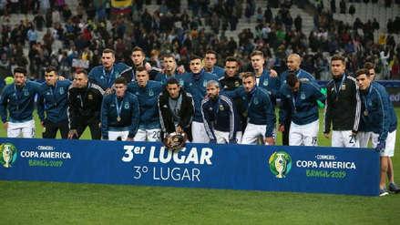 Lionel Messi no estuvo presente en la entrega de las medallas de tercer puesto a la Selección Argentina