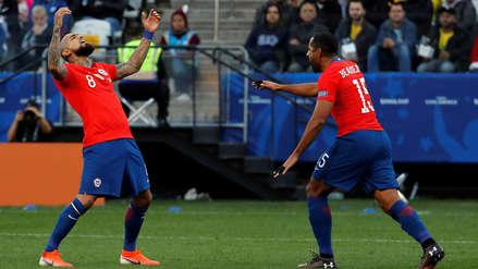Arturo Vidal puso el descuento para Chile con un golazo de penal en el partido ante Argentina
