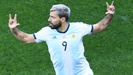 Sergio Agüero anotó el primer gol de Argentina ante Chile tras genialidad de Lionel Messi