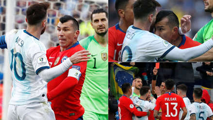 Lionel Messi vs. Gary Medel: 15 fotos de la pelea entre la 'Pulga' y 'Pitbull previo a la expulsión de ambos