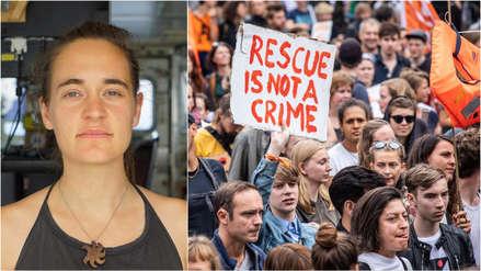 Más de 30,000 personas marcharon en Alemania en apoyo a la joven que rescataba migrantes [FOTOS]