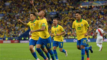 Everton anotó el primer gol de Brasil después de gran jugada individual de Gabriel Jesús